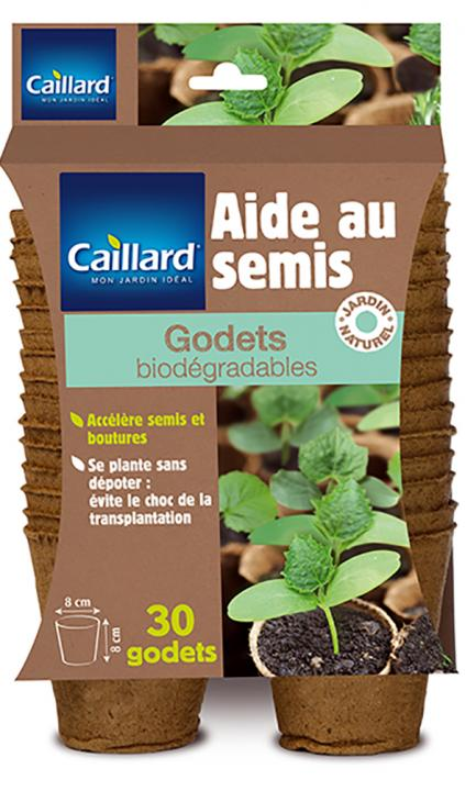30 GODETS RONDS BIODEGRADABLES