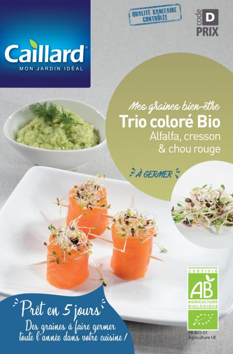 TRIO COLORE A GERMER (cresson, alfalfa, chou rouge)